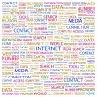 INTERNET. Word collage on white background — Stock Vector