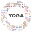 YOGA. Word collage on white background — Stock Vector #3508754