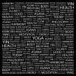 YOGA. Word collage on black background — Stock Vector #3508781