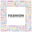 FASHION. Word collage on white background — Stock Vector