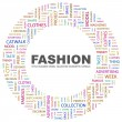FASHION. Word collage on white background - Stock Vector