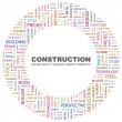 Royalty-Free Stock Vector Image: Construction. Word collage on white background