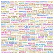 SEO. Word collage on black — Stock Vector