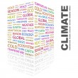 CLIMATE. Word collage on white background — Stock Vector