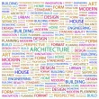 ARCHITECTURE. Word collage on white background — Stock Vector