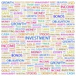 Royalty-Free Stock Vectorafbeeldingen: INVESTMENT. Word collage on white background