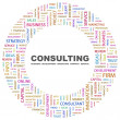 CONSULTING. Word collage on white background — Stock vektor