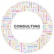 CONSULTING. Word collage on white background — Stockvectorbeeld
