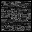 CONSULTING. Word collage on black background. - Stock Vector