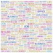 JOB. Word collage on white background — Stock Vector