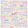 DEATH. Word collage on white background — Imagens vectoriais em stock