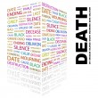 DEATH. Word collage on white background — Stock vektor