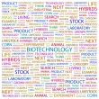 BIOTECHNOLOGY. Word collage on white background - Stock Vector