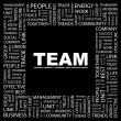 TEAM. Word collage on black background — Stock Vector #3509864