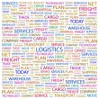 LOGISTICS. Word collage on white background — Stock Vector #3509890