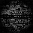 LOGISTICS. Word collage on black background — Stock Vector #3509898