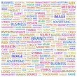 BRAND. Word collage on white background. — Stock Vector