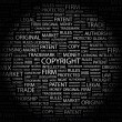 Royalty-Free Stock Vector Image: COPYRIGHT. Word collage on black background