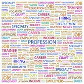 PROFESSION. Word collage on white background — 图库矢量图片