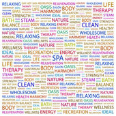 SPA. Word collage on white background — Stock Vector