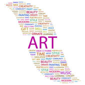 ART. Word collage on white background — Stock Vector