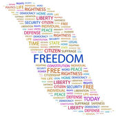 FREEDOM. Word collage on white background — Stock Vector