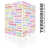 TERRORISM. Word collage on white background — Stock Vector