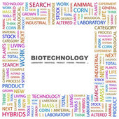 BIOTECHNOLOGY. Word collage on white background — Stock Vector