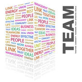 TEAM. Word collage on white background — Stock Vector
