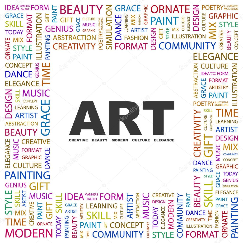 ART Word collage on white background — Stock Vector © studiom1