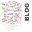 BLOG. Word collage on white background. - Stock Vector