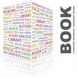 BOOK. Word collage on white background - Stock Vector