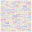 WORLD. Word collage on white background - Stock Vector