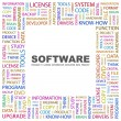 SOFTWARE. Word collage on white background - Stock Vector