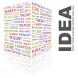 IDEA. Word collage on white - Stock Vector