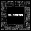 SUCCESS. Word collage on black — Stock Vector