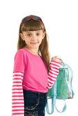 Dziewczynka z plecakiem — Zdjęcie stockowe
