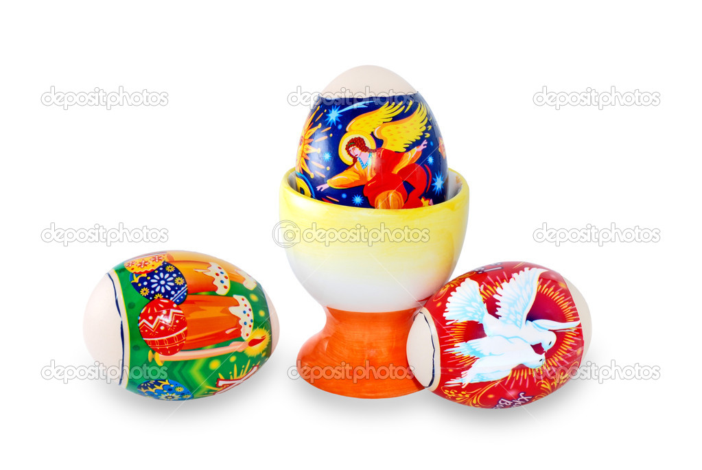Easter eggs are photographed on a white background — Stock Photo #2930921