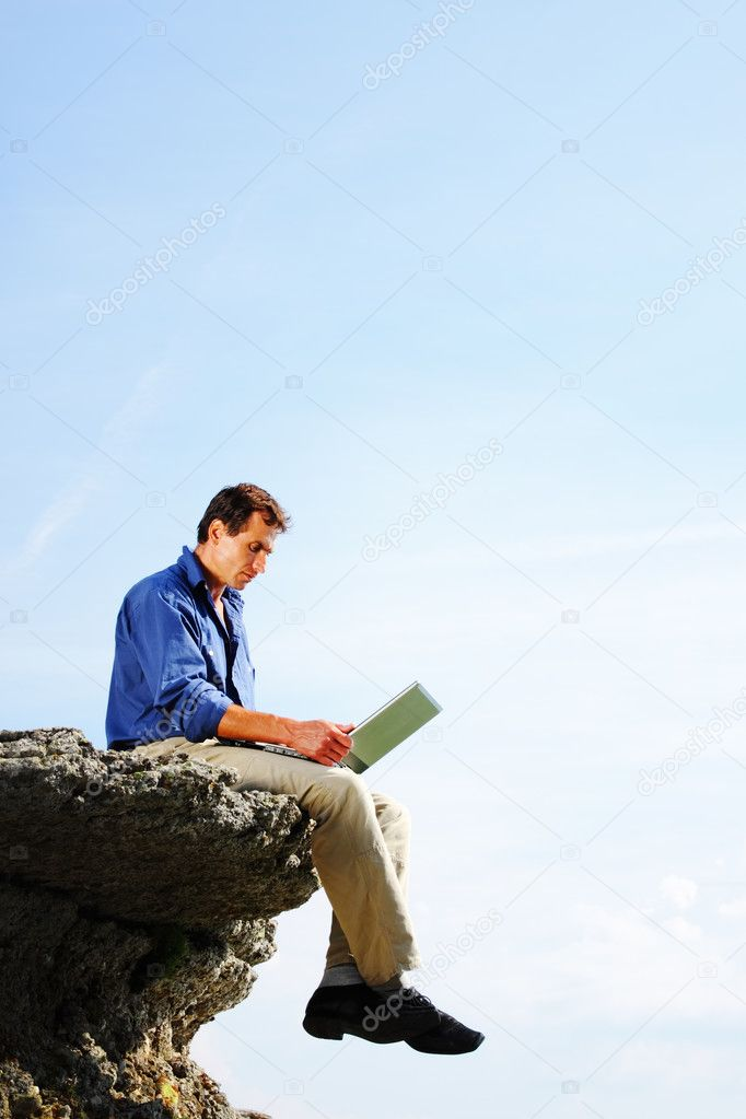 Man with notebook  — Stock Photo #3286354