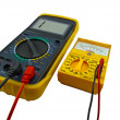 Digital and pointer multimeters — Stock Photo
