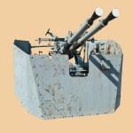 Marine zenithal cannon — Stock Photo #3079173
