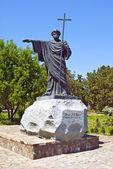 Sculpture de saint apôtre saint-andré — Photo
