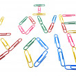 "Words ""I love you"" from office paper clips — Stock Photo"