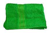 Green towel — Stock Photo