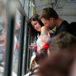 engagement dans le bus — Photo
