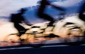 Ruch rowerzystów — Zdjęcie stockowe