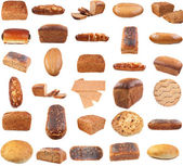 Collection of various bread — Foto de Stock