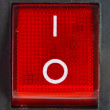 Red power switch . — Foto Stock