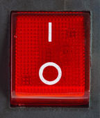 Red power switch . — Stok fotoğraf