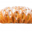 Croissant from flaky pastry with poppy — Stok Fotoğraf #3176783